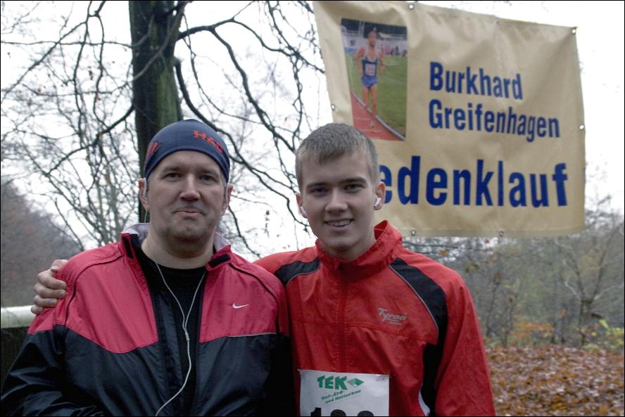 Fred und Roland kurz vor dem Start über die 10 km Strecke