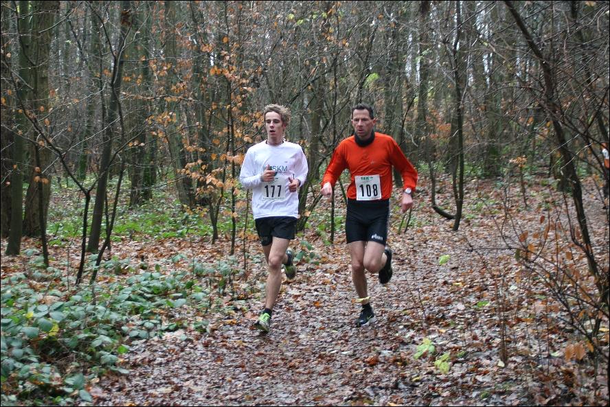 die führenden Läufer Christoph Hinz (177) und André Schrödter (108)