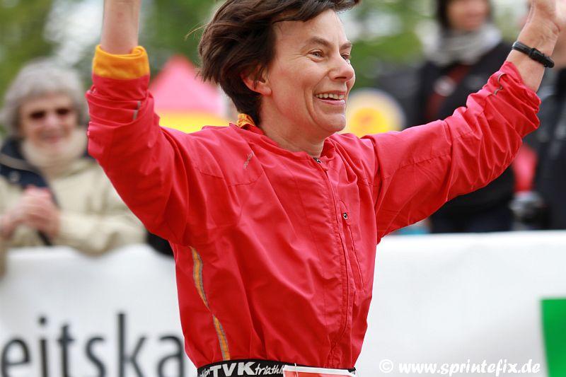 Gerlind beim Rennsteiglauf 2012