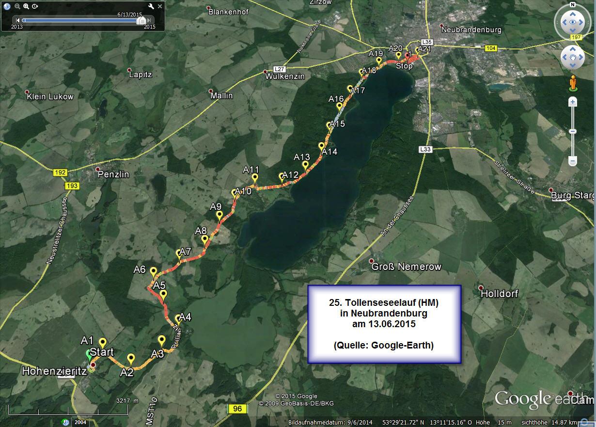 25. Tollenseseelauf Neubrandenburg am 13.06.2015